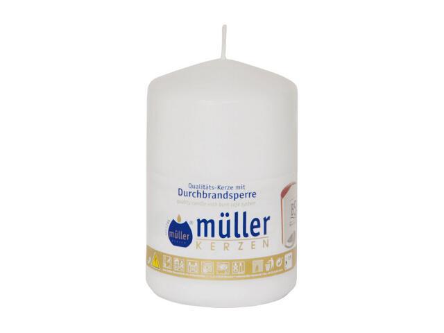 Świeca walec 110x70mm kolor biały Muller