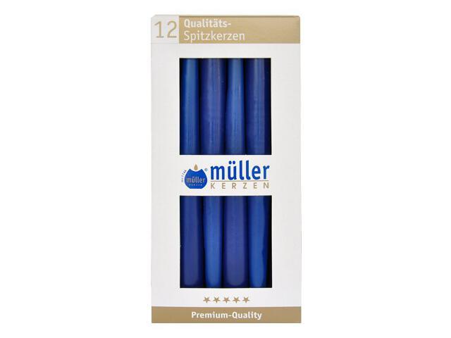 Świeca świecznikowa 245mm kpl 12szt kolor indigo Muller