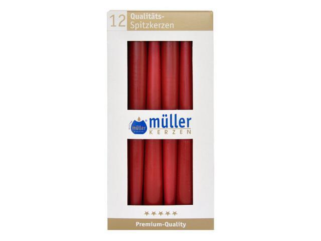 Świeca świecznikowa 245mm kpl 12szt kolor wina Muller