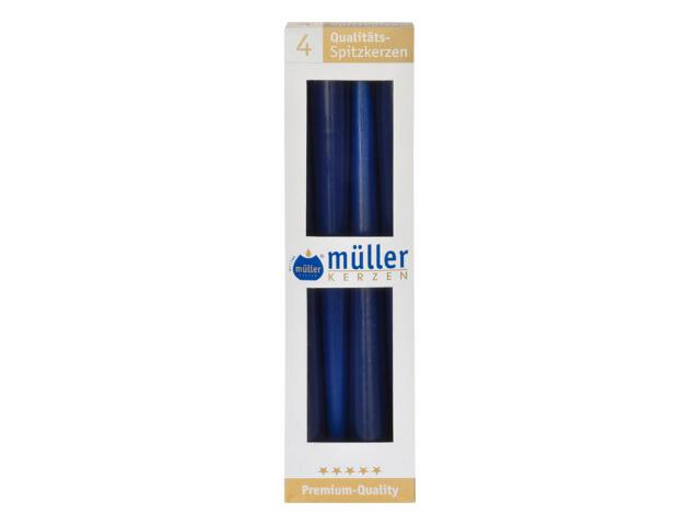 Świeca świecznikowa 295mm kpl 4szt kolor indigo Muller