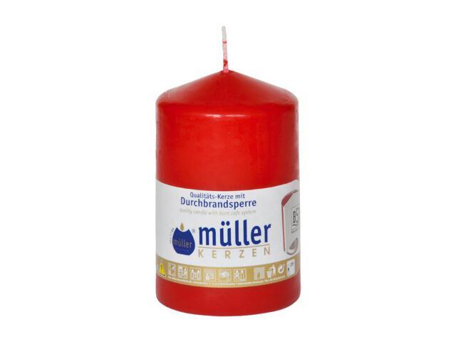 Świeca walec 110x70mm kolor karminowy Muller