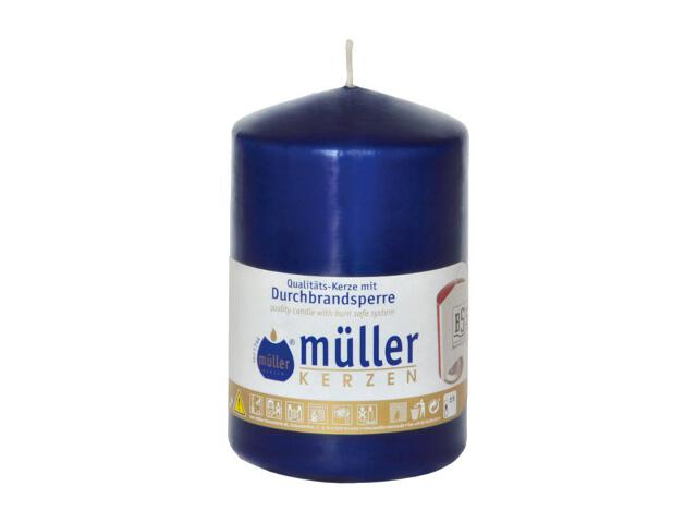 Świeca walec 110x70mm kolor indigo Muller