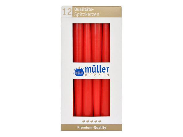 Świeca świecznikowa 245mm kpl 12szt kolor karminowy Muller