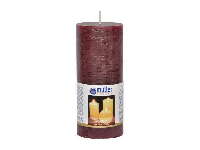 Świeca walec polarowy 160x68mm kolor wina Muller