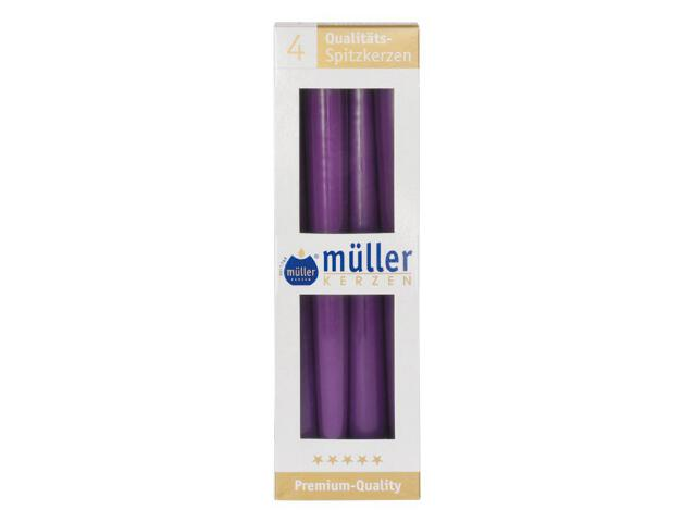 Świeca świecznikowa 245mm kpl 4szt kolor fioletowy Muller