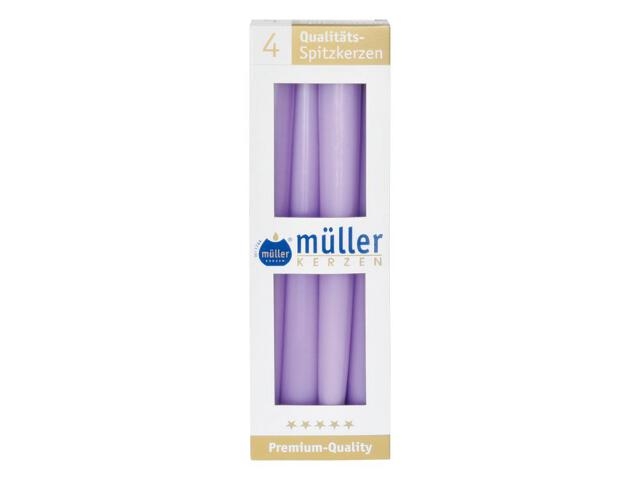 Świeca świecznikowa 245mm kpl 4szt kolor bzu Muller