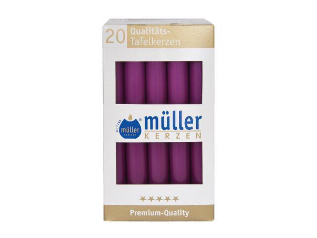 Świeca świecznikowa kpl 20szt kolor fioletowy Muller