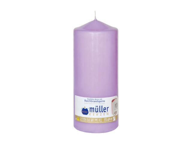 Świeca walec 180x70mm kolor bzu Muller
