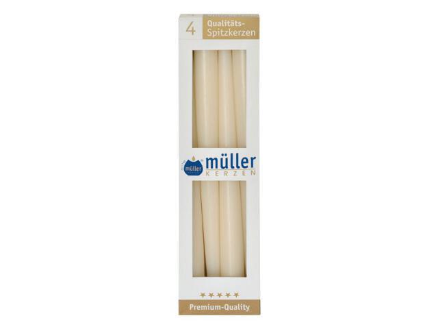 Świeca świecznikowa 295mm kpl 4szt kolor waniliowy Muller
