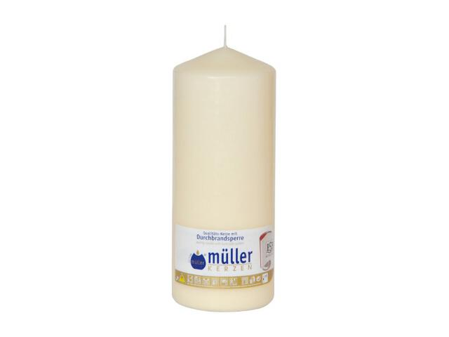 Świeca walec 200x80mm kolor waniliowy Muller