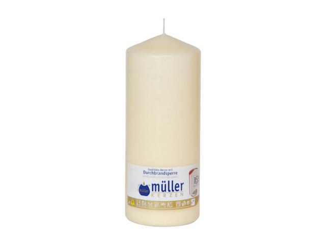 Świeca walec 180x70mm kolor waniliowy Muller