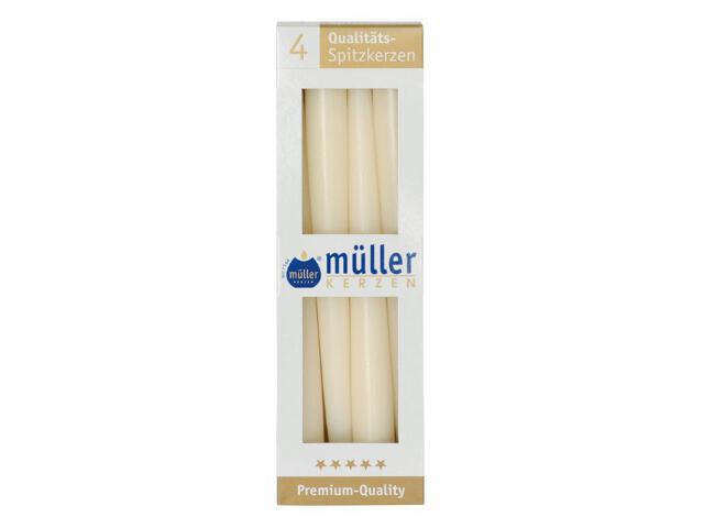 Świeca świecznikowa 245mm kpl 4szt kolor waniliowy Muller