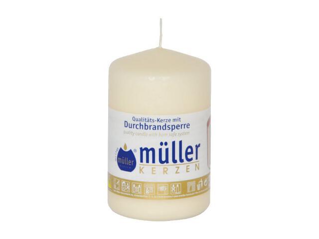 Świeca walec 90x55mm kolor waniliowy Muller