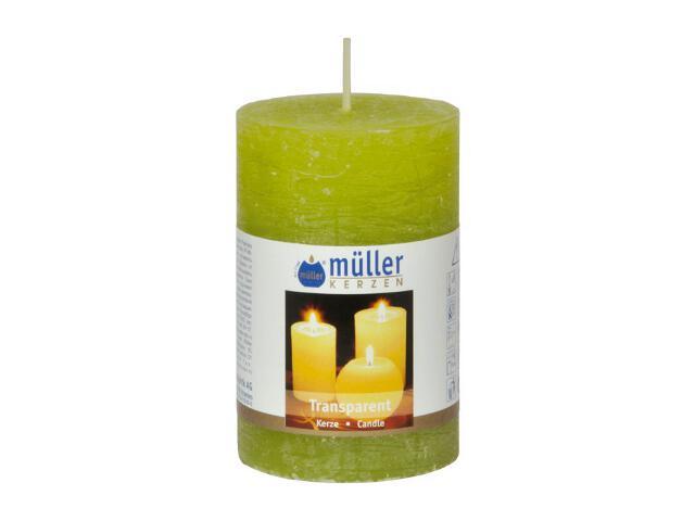 Świeca walec polarowy 90x58mm kolor majowa zieleń Muller
