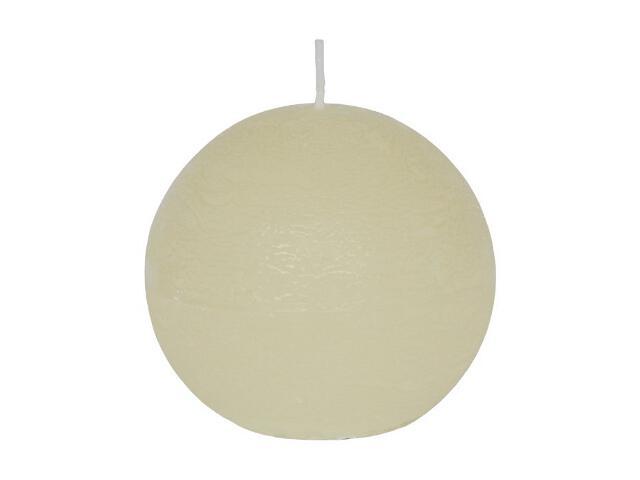 Świeca kula polarowa 86mm kolor waniliowy Muller