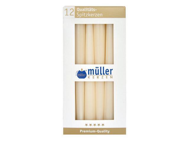 Świeca świecznikowa 245mm kpl 12szt kolor waniliowy Muller