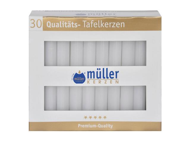 Świeca świecznikowa kpl 30szt kolor biały Muller