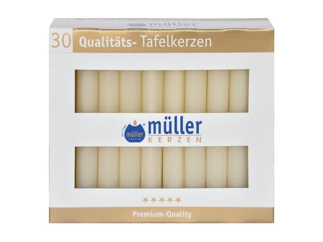 Świeca świecznikowa kpl 30szt kolor waniliowy Muller