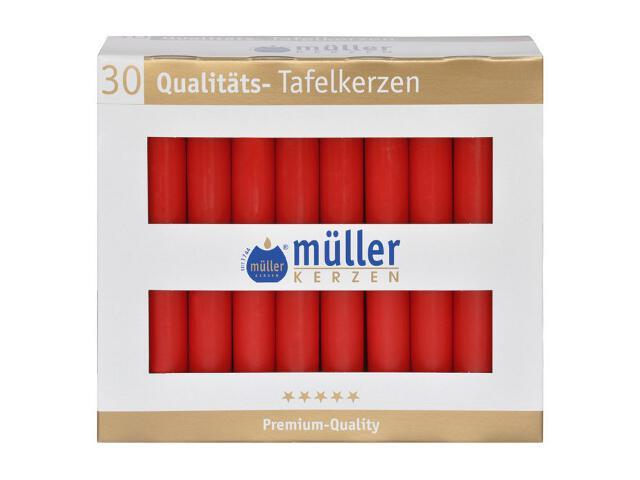 Świeca świecznikowa kpl 30szt kolor karminowy Muller