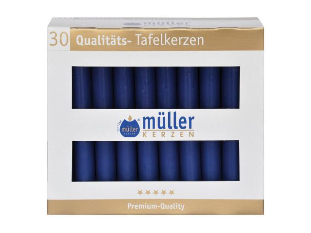 Świeca świecznikowa kpl 30szt kolor indigo Muller