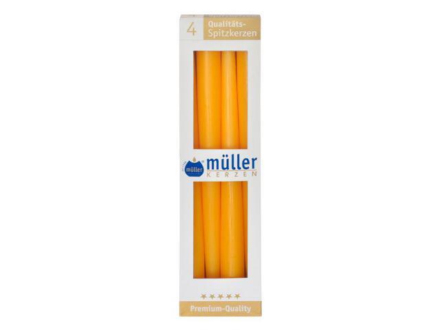 Świeca świecznikowa 295mm kpl 4szt kolor żółty Muller