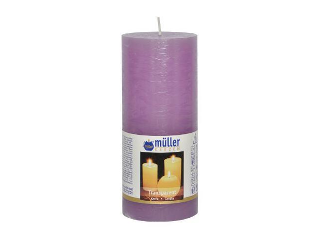Świeca walec polarowy 160x68mm kolor bzu Muller