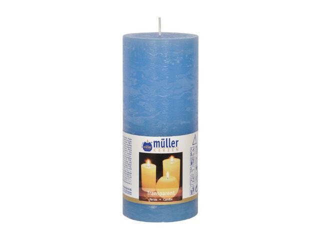 Świeca walec polarowy 160x68mm kolor niebieski Muller
