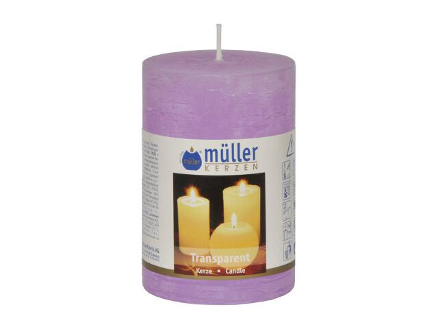 Świeca walec 100x68mm kolor bzu Muller