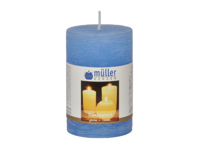 Świeca walec polarowy 90x58mm kolor niebieski Muller