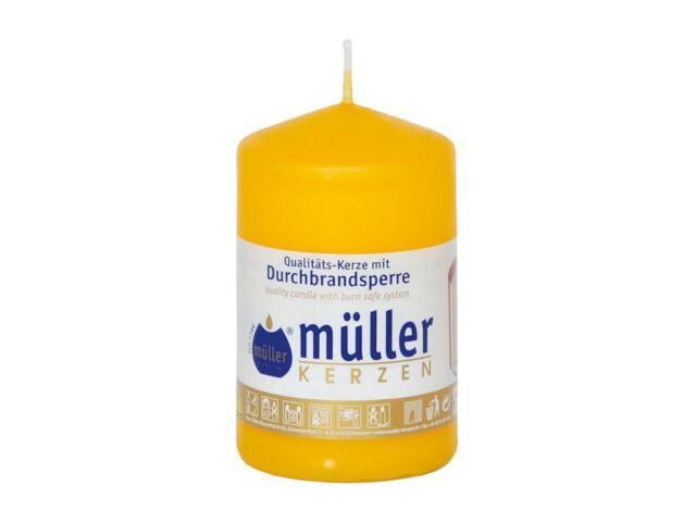Świeca walec 90x55mm kolor żółty Muller