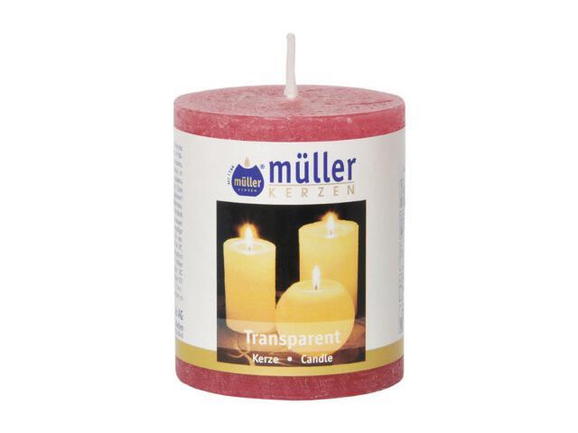 Świeca walec polarowy 60x50mm kolor malinka Muller