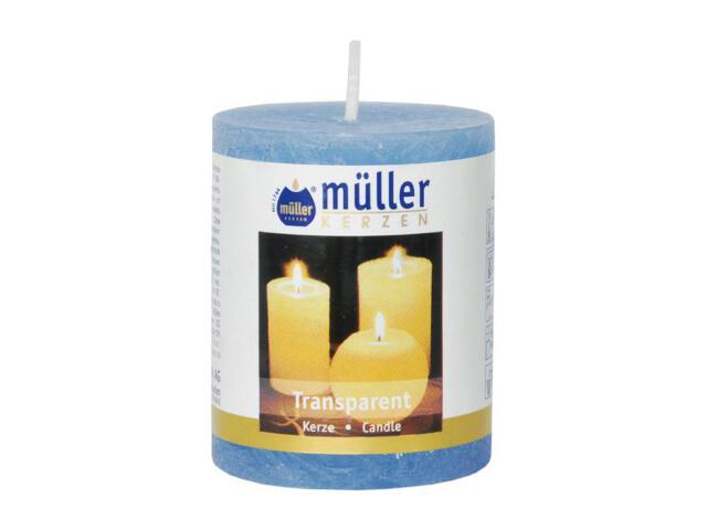 Świeca walec polarowy 60x50mm kolor niebieski Muller