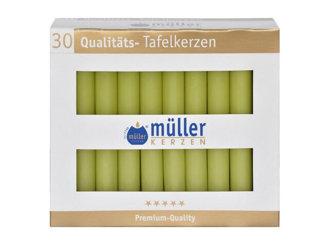 Świeca świecznikowa kpl 30szt kolor majowa zieleń Muller