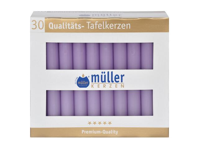 Świeca świecznikowa kpl 30szt kolor bzu Muller