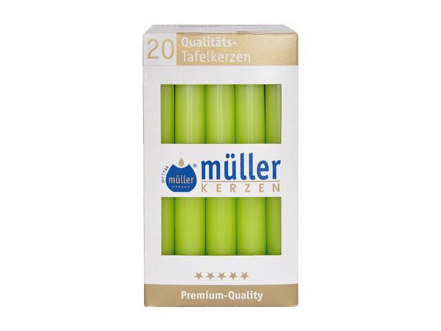 Świeca świecznikowa kpl 20szt kolor majowa zieleń Muller