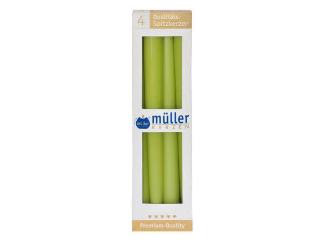 Świeca świecznikowa 295mm kpl 4szt kolor majowa zieleń Muller