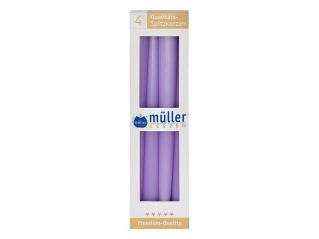 Świeca świecznikowa 295mm kpl 4szt kolor bzu Muller