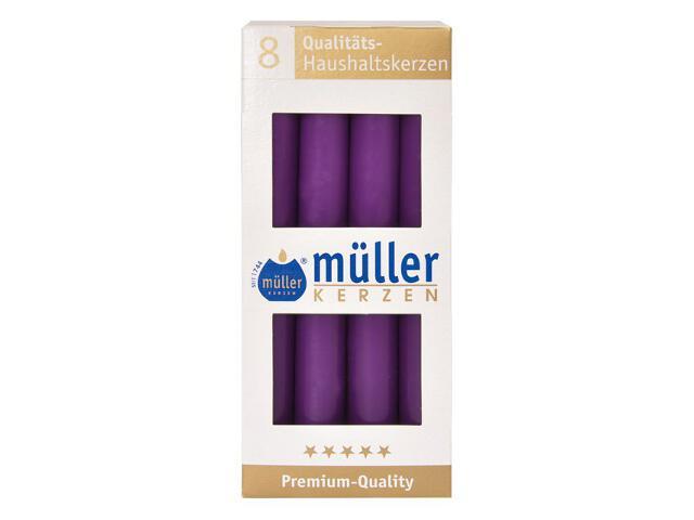 Świeca świecznikowa kpl 8szt kolor fioletowy Muller