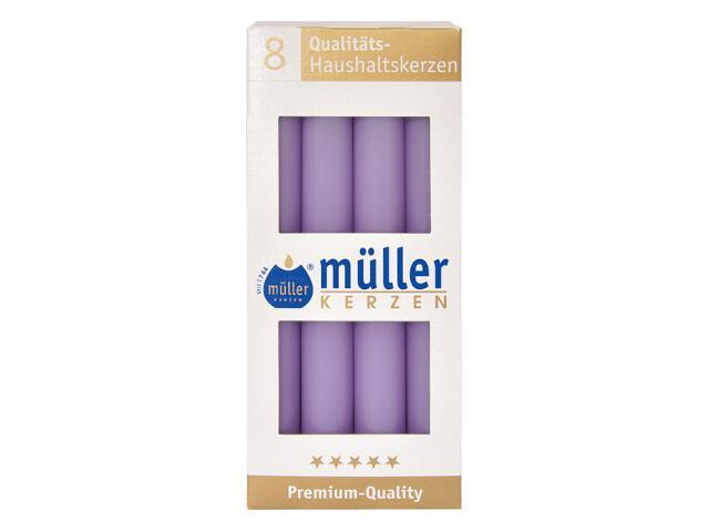 Świeca świecznikowa kpl 8szt kolor bzu Muller