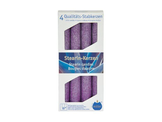 Świeca świecznikowa kpl 4szt kolor fioletowy Muller