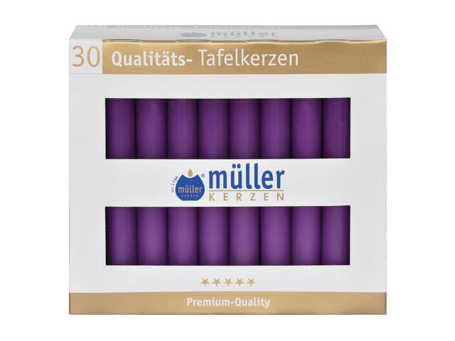Świeca świecznikowa kpl 30szt kolor fioletowy Muller