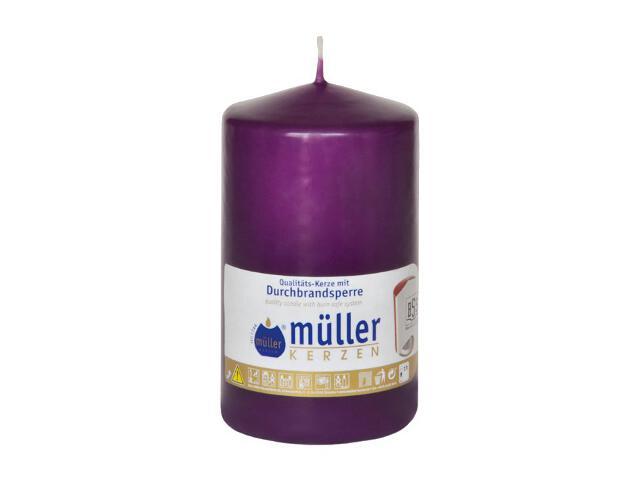 Świeca walec 130x75mm kolor fioletowy Muller
