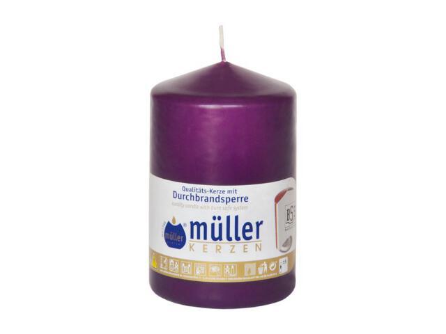 Świeca walec 110x70mm kolor fioletowy Muller
