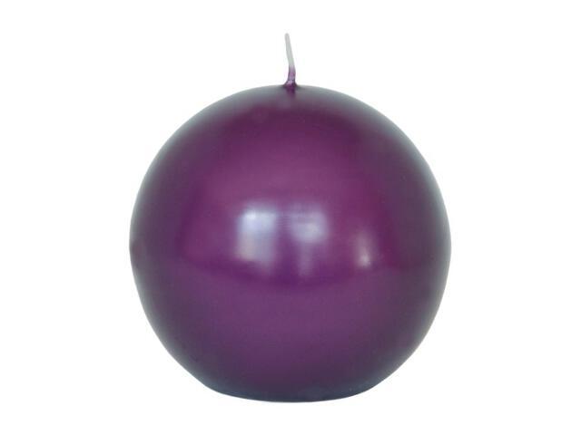 Świeca kula 95mm kolor fioletowy Muller