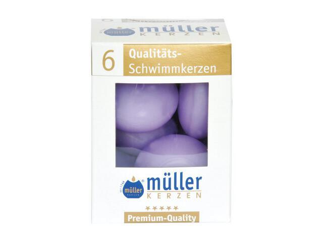Świece pływające kpl 6szt kolor bzu Muller