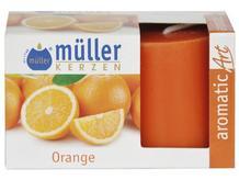 Świeca zapachowa walec kpl 2szt pomarańcza Muller