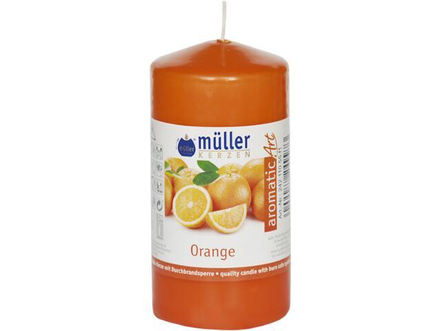 Świeca zapachowa walec 110x55mm pomarańcza Muller