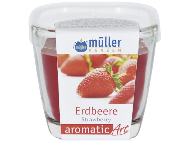Świeca zapachowa w szkle truskawka Muller