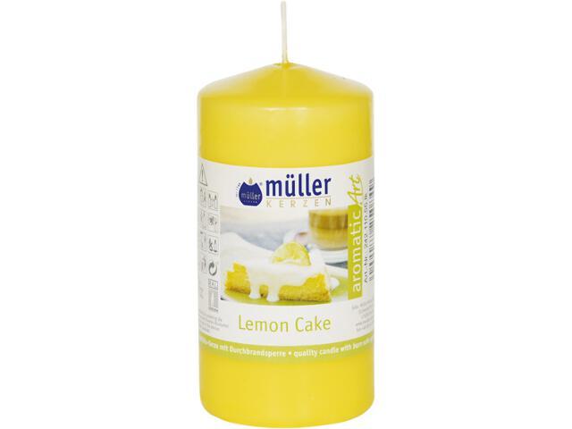 Świeca zapachowa walec 110x55mm ciasto lemonowe Muller