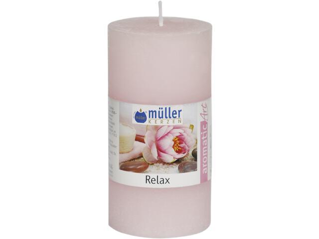 Świeca zapachowa walec polarowy 100x50mm relaks Muller